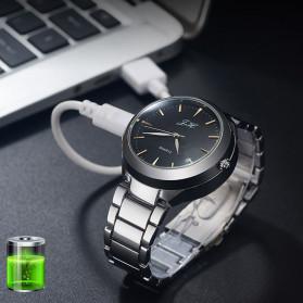 ZHUOHENG Jam Tangan Mancis Koreak Api Elektrik USB Rechargeable - JH-329 - Black - 3