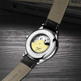 GUANQIN Jam Tangan Analog Pria Strap Leather - 16131 - Black - 2