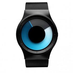 Jam Tangan Pria Keren Terbaru - Geekthink Jam Tangan Analog Fashion Pria Mesh Steel - L6002 - Blue