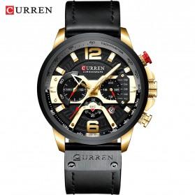 Watch Band - CURREN Jam Tangan Mechanical Pria Automatic Movement - 8329 - Black Gold