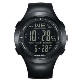 Trend Fashion Pria Terbaru - NORTHEDGE Edge Peak Jam Tangan Digital Pedometer Altimeter Fish Finder - Black