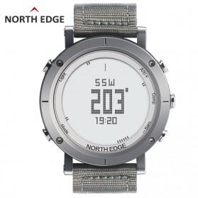 NORTHEDGE Edge Range Jam Tangan Digital Pedometer Heartrate Thermometer - Gray Silver