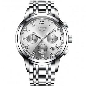 LIGE Jam Tangan Kasual Pria Stainless Steel - 9810 - Silver