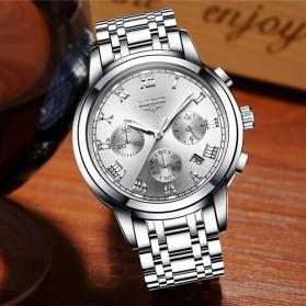 LIGE Jam Tangan Kasual Pria Stainless Steel - 9810 - Silver - 2