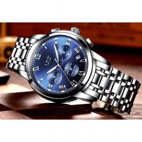 LIGE Jam Tangan Kasual Pria Stainless Steel - 9810 - Silver - 3