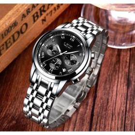 LIGE Jam Tangan Kasual Pria Stainless Steel - 9810 - Silver - 4