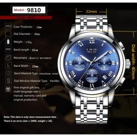 LIGE Jam Tangan Kasual Pria Stainless Steel - 9810 - Silver - 5