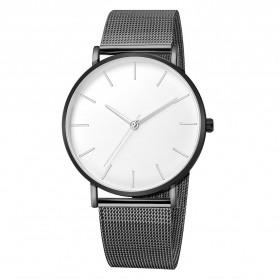 Trend Fashion Pria Terbaru - Relogio Jam Tangan Kasual Pria Milanese Stainless Steel - 3294 - Black White