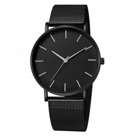 Relogio Jam Tangan Kasual Pria Milanese Stainless Steel - 3294 - Black