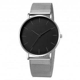 Relogio Jam Tangan Kasual Pria Milanese Stainless Steel - 3294 - Silver Black - 1
