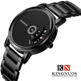 KINGNUOS Jam Tangan Analog Pria - K-260 - Black - 2