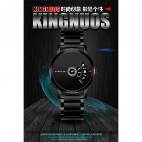 KINGNUOS Jam Tangan Analog Pria - K-260 - Black - 3
