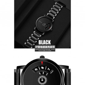 KINGNUOS Jam Tangan Analog Pria - K-260 - Black - 5
