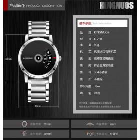 KINGNUOS Jam Tangan Analog Pria - K-260 - Black - 6