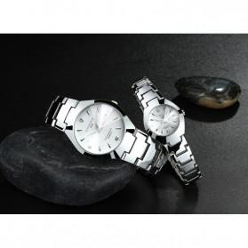 KINGNUOS Jam Tangan Analog Wanita - FD1240 - White/Silver - 2