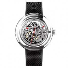 Xiaomi CIGA T Series Jam Tangan Mechanical Watch Skeleton - Black