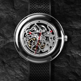Xiaomi CIGA T Series Jam Tangan Mechanical Watch Hollow Silicone Strap - Black - 2