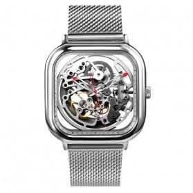 Xiaomi CIGA T Series Jam Tangan Mechanical Watch Skeleton Model Kotak - Silver - 1