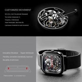 Xiaomi CIGA T Series Jam Tangan Mechanical Watch Skeleton Model Kotak - Silver - 4