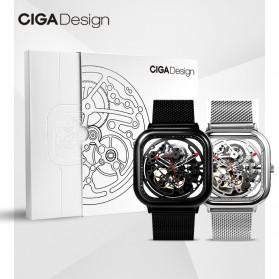 Xiaomi CIGA T Series Jam Tangan Mechanical Watch Skeleton Model Kotak - Silver - 9