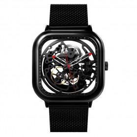 Xiaomi CIGA T Series Jam Tangan Mechanical Watch Skeleton Model Kotak - Black
