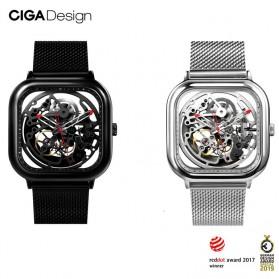 Xiaomi CIGA T Series Jam Tangan Mechanical Watch Skeleton Model Kotak - Black - 2