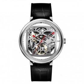 Xiaomi CIGA T Series Jam Tangan Mechanical Watch Skeleton Model Bulat - Silver