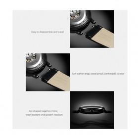 Xiaomi CIGA T Series Jam Tangan Mechanical Watch Skeleton Model Bulat - Black - 2