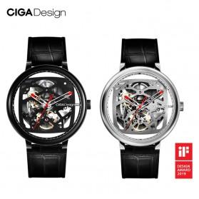 Xiaomi CIGA T Series Jam Tangan Mechanical Watch Skeleton Model Bulat - Black - 3