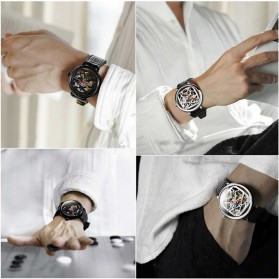 Xiaomi CIGA T Series Jam Tangan Mechanical Watch Skeleton Model Bulat - Black - 4