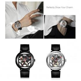 Xiaomi CIGA T Series Jam Tangan Mechanical Watch Skeleton Model Bulat - Black - 7