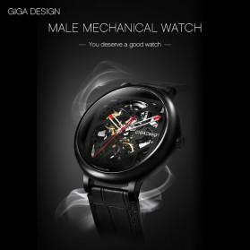 Xiaomi CIGA T Series Jam Tangan Mechanical Watch Skeleton Model Bulat - Black - 10