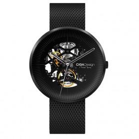 Xiaomi CIGA MY Series Jam Tangan Mechanical Watch Skeleton Model Bulat - Black