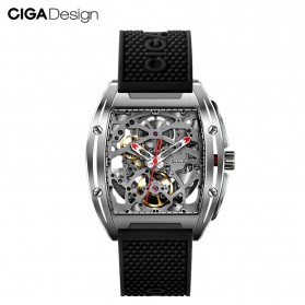 Xiaomi CIGA Z Series Jam Tangan Mechanical Watch Model Double Sided Hollow Skeleton - Black - 1
