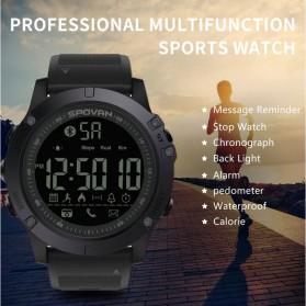 Spovan Jam Tangan Olahraga Smartwatch Bluetooth - PR1-1 - Black - 5