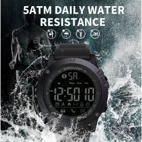 Spovan Jam Tangan Olahraga Smartwatch Bluetooth - PR1-1 - Black - 8