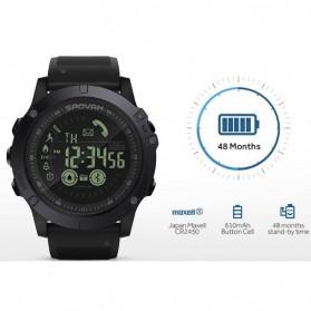 Spovan Jam Tangan Olahraga Smartwatch Bluetooth - PR1-2 - Black - 3