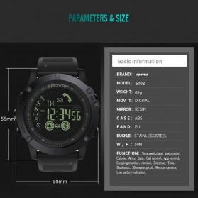 Spovan Jam Tangan Olahraga Smartwatch Bluetooth - PR1-2 - Black - 5