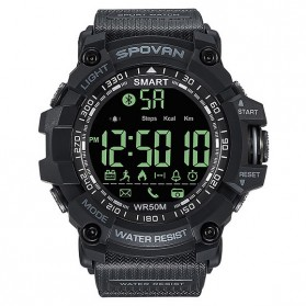 Spovan Jam Tangan Olahraga Smartwatch Bluetooth - PR2-2 - Black - 3