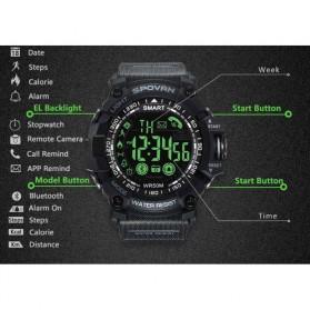Spovan Jam Tangan Olahraga Smartwatch Bluetooth - PR2-2 - Black - 6
