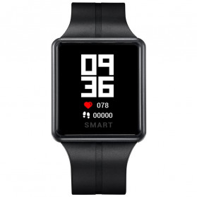 SPOVAN Sporty Smartwatch Jam Tangan Heart Rate Calorie Pedometer - SW06 - Black