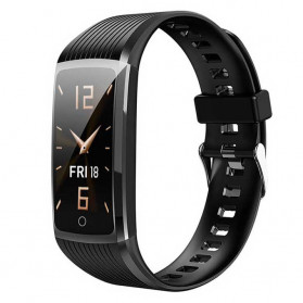 SPOVAN Jam Tangan Olahraga Smartwatch Heartrate Bluetooth - R12 - Black