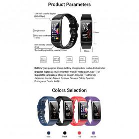 SPOVAN Jam Tangan Olahraga Smartwatch Heartrate Bluetooth - R12 - Black - 4