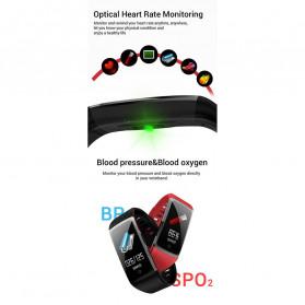 SPOVAN Jam Tangan Olahraga Smartwatch Heartrate Bluetooth - R12 - Black - 5