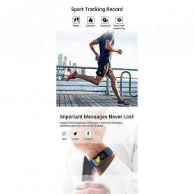 SPOVAN Jam Tangan Olahraga Smartwatch Heartrate Bluetooth - R12 - Black - 6