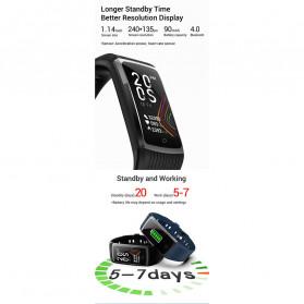 SPOVAN Jam Tangan Olahraga Smartwatch Heartrate Bluetooth - R12 - Black - 7