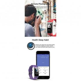 SPOVAN Jam Tangan Olahraga Smartwatch Heartrate Bluetooth - R12 - Black - 8