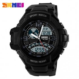 SKMEI Jam Tangan Analog Digital Pria - AD1017 - Black