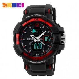 SKMEI Jam Tangan Digital Analog Pria - AD1040 - Black/Red - 2