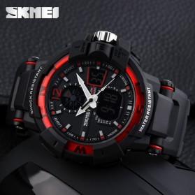 SKMEI Jam Tangan Digital Analog Pria - AD1040 - Black/Red - 5